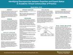 Identifying Discrepancies between Expertise and Expert Status in Academic Virtual Communities of Practice