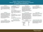 Factors Influencing Advancement of Women Senior Leaders in Aerospace Companies by Camille E. Garrett-Howard