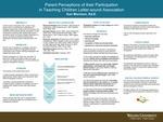 Parent Perceptions of their Participation in Teaching Children Letter-sound Association by Kat Morrison