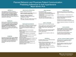 Planned Behavior and Physician-Patient Communication: Predicting Adherence to Anti Hypertensive