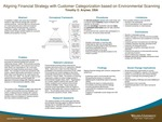 Aligning Financial Strategy with Customer Categorization based on Environmental Scanning