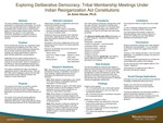 Exploring Deliberative Democracy: Tribal Membership Meetings Under Indian Reorganization Act Constitutions