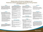 Relationships of Emotional Intelligence and Performance-Based Self-Esteem with Burnout Among Pastors by Jeannie Miller-Clarkson