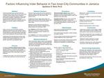 Factors Influencing Voter Behavior in Two Inner-City Communities in Jamaica by Apollone S. Reid