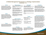 A Middle Management Perspective on Strategy Implementation