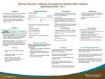 Ethical Decision Making Considering Stakeholder Interest by Sheila Hadley Strider