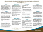 Organizational Climate and the Theory of Human Caring in Hospitals