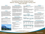 Counseling Canadian Aboriginal Peoples: Alliance, Outcome, and Counselor Training Level