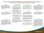 Big Five Personality Traits and Proenvironmental Attitudes and Behaviors by Tara Rae Wuertz