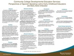 Community College Developmental Education Services: Perspectives of Spanish-Speaking Latino Early Childhood Educators by John Edward Eberly