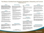 The Effects of Certified Nurse Assistants' Socialization, Onboarding, and Turnover