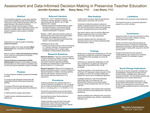 Assessment and Data-Informed Decision-Making in Preservice Teacher Education