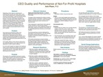 CEO Duality and Performance of Not-For-Profit Hospitals