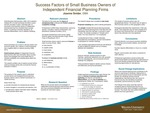 Success Factors of Small Business Owners of Independent Financial Planning Firms by Joanne Snider