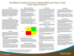 The Effect of Textbook Format on Mental Effort and Time on Task