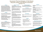 Succession Planning Strategies of Faith-Based, Nonprofit Leaders of the Boomer Generation by Leigh Byers