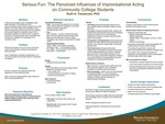 Serious Fun: The Perceived Influences of Improvisational Acting on Community College Students by Ruth H. Yamamoto
