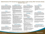 Determinants of HIV Screening Among Adults in New Jersey After Hurricane Sandy by Nathaniel R. Geyer