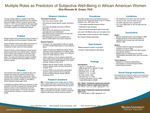 Multiple Roles as Predictors of Subjective Well-Being in African American Women by Sha-Rhonda Michea Green-Davis