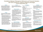 Correlations Between Management Behaviors and Financial Indicators with FDA Compliance Leading to Medicine Shortages