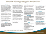 Strategies To Improve Project Management Maturity Processes by Walter H. Sargent