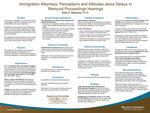Immigration Attorneys' Perceptions and Attitudes about Delays in Removal Proceedings Hearings by Awa C. Diawara