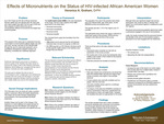 Effects of Micronutrients on the Status of HIV-infected African American Women by Veronica Alicia Graham