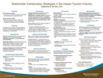 Stakeholder Collaboration Strategies in the Hawaii Tourism Industry by Catherine E. Ka`ehu