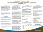 Association of Dietary Intake with Suicidal Ideation or Suicide Attempts in Adolescents by Zenobia J. Bryant