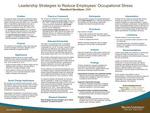 Leadership Strategies to Reduce Employees' Occupational Stress by Ransford George Davidson